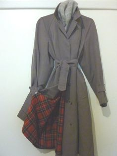 Vintage Overcoat  1930s vintage trench coat  by pinkneonvintage, $155.00