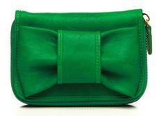 Urban Expressions Katelyn Bow Mini Ziparound Wallet-8830 (Green) Urban Expressions. $19.99