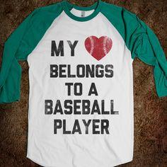 My Heart Belongs To A Baseball Player - Sports Fun - Skreened T-shirts, Organic Shirts, Hoodies, Kids Tees, Baby One-Pieces and Tote Bags Custom T-Shirts, Organic Shirts, Hoodies, Novelty Gifts, Kids Apparel, Baby One-Pieces | Skreened - Ethical Custom Apparel