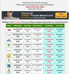 Please click on the ad to leave the page. Which supports the plating and the further developments HELP US TO YOU FREE New Result available 2015.01.28 http://www.bestoflotto.com/lottery-results.html
