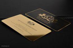Luxury Gold Metal Business Card - Grandeur | RockDesign Luxury Business Card Printing
