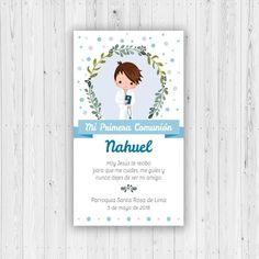 First Communion Nahuel First Communiston baptism, confirmation card to print child's invitation, communion invitation comunion First Communion Invitations, Baptism Invitations, Baby Shower Invitations, Clock Printable, Confirmation Cards, Boys First Communion, Ideas Para Fiestas, Kids Events, Lettering