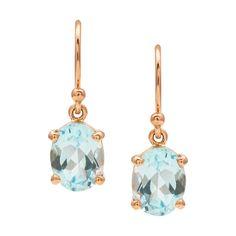 Earrings Rose Gold Drop Earrings, Gemstone Earrings, Gold Necklace, Present For Girlfriend, Gifts For Wife, Cheap Necklaces, Custom Jewelry Design, London Blue Topaz, Topaz Gemstone
