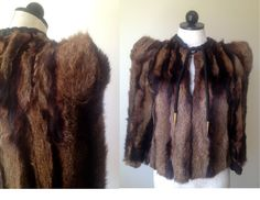 Vintage 30s Lush Fur Jacket  Small by OffBroadwayVintage on Etsy, $495.00