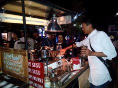 University students's cart coffee  in Yogyakarta