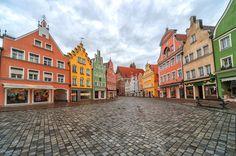 Landshut ~ Bavaria ~ Allemagne ~ Germany ~ Old German gothic town near Munich.