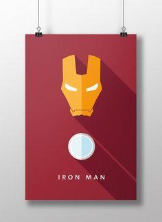 Flat Design e personagens da cultura pop nos pôsteres de Moritz Adam Schmitt Iron Man Kunst, Iron Man Art, Marvel Art, Marvel Dc Comics, Marvel Heroes, Minimalist Poster, Minimalist Art, Flat Design, Web Design