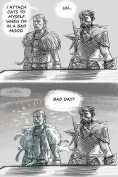 Bad day? DA2 Dragon Age Inquisitor, Hawke Dragon Age, Dragon Age 2, Dragon Age Origins, Dragon Age Comics, Dragon Age Funny, Dragon Age Games, Dragon Age Characters, Dnd Characters