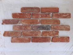 Antikriemchen Ziegelsteine Mauerziegel Backsteine retro Verblender Klinker Mauerriemchen Fliese Loft Fabrik 2