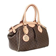 Leather Accents Daily Tote Handbag beige >>> Learn more by visiting the image link.Note:It is affiliate link to Amazon.
