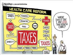 This cartoon certainly raises the question about Obamacare. The health care reform that increases taxes. Why didn't we read this before it was passed? http://www.obamanewsreport.com
