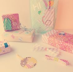 Adorable gift wrapping paper patterns.