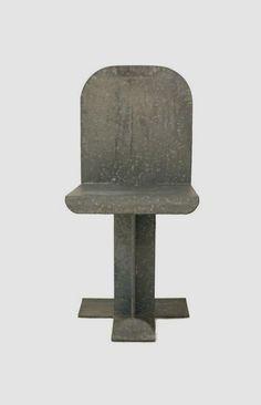 Isamu Noguchi Chair, 1983 Galvanized Steel Chair, Gemini Production No. 9 / Edition of 37