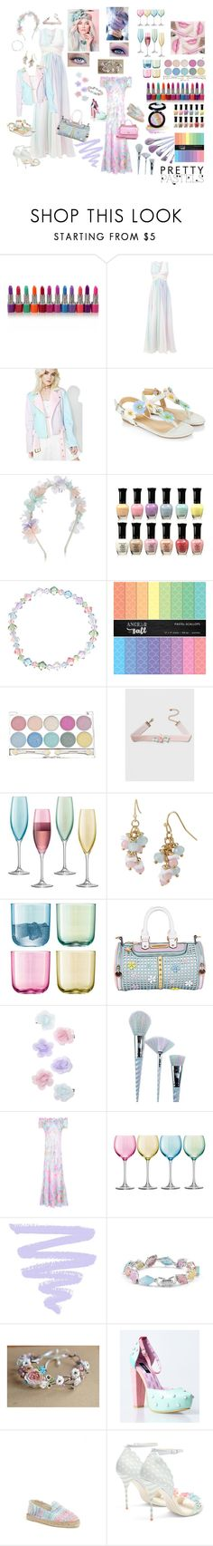 """""""Pretty Pastels"""" by lawvel ❤ liked on Polyvore featuring Zuhair Murad, Sugarpills, Monsoon, Anastasia Beverly Hills, Dorothy Perkins, LSA International, Mixit, Nicole Lee, Unicorn Lashes and RIXO London"""