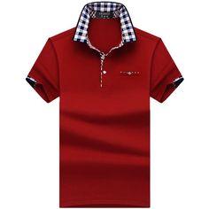 Polo T Shirts, Short Sleeve Polo Shirts, Polo Shirt Embroidery, Black Plaid Shirt, England Fashion, Camisa Polo, Casual Shirts, Shirt Style, Men Casual