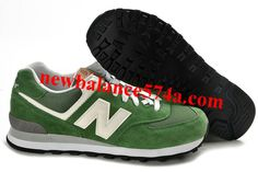 pretty nice ef221 68cf1 Latest Listing Discount Womens New Balance 574 Green White Black Casual  shoes Store