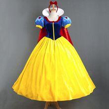 OHCOS Novas Mulheres Veste Branca De Neve Princesa Vestidos Aurora Mulheres Partido Do Traje de Halloween Roupas Adulto(China (Mainland))