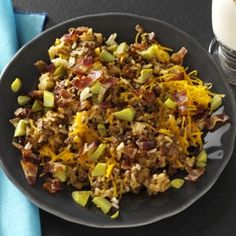 Bacon Cheeseburger Rice Recipe from Taste of Home