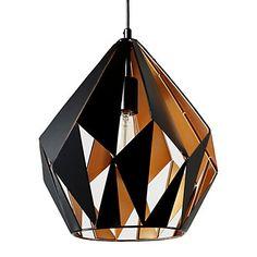 """Suspension géométrique """"Geo"""" en acier, noir Ø : 32 cm - h : 38 cm"""