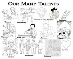 Parable Of The Talents Coloring Page | CLICK HERE to open this coloring sheet.