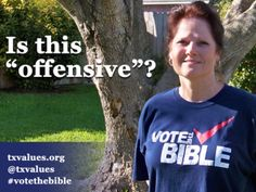 Texas Woman Forced To Cover Up 'Vote The Bible' Shirt In Order To Cast Ballot! WTH? If she would have worn a black sheet from head to toe no one would say a word! America is getting scary! Better wake up and fix it before you no longer have that option!!