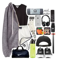 """""""air max thea"""" by vogue-d ❤ liked on Polyvore featuring Nomia, StyleNanda, NIKE, BOBBY, adidas, Alessi, H&M, Beats by Dr. Dre, Manduka and NARS Cosmetics"""