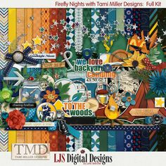 Firefly Nights by Tami Miller Designs and LJS Digital Designs by Lorie Starcher Scrapbooking Freebies, Digital Scrapbooking, Chasing Fireflies, Paint Shop, Photoshop Elements, Journal Cards, Photo Book, Design Elements, Paper Crafts
