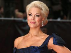 Hannah Waddingham is the English actress who plays the strict Septa. Who knew blonde hair was lurking under her grey habit? English Actresses, British Actresses, Actors & Actresses, Game Of Thrones Cast, Older Beauty, The Emmys, Christie Brinkley, Blonde Hair, Beautiful People