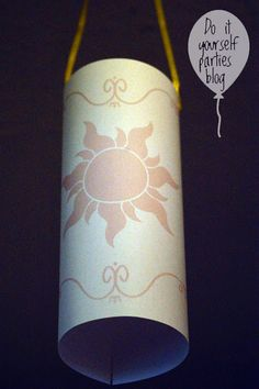 """Printable """"Tangled"""" lantern and LOTS of other """"Tangled"""" party ideas"""