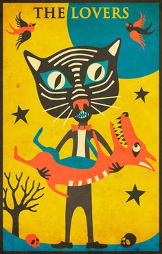 Poster | TAROT CARD CAT: THE LOVE… von Jazzberry Blue