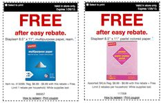 Office Supply Deals: FREE Paper, Cheap Printer Ink, $.01 Markers