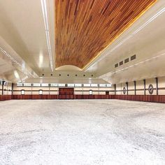 One can only dream to have an indoor arena like Edwina Alexander's.
