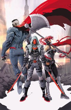 Red Hood and The Outlaws (Bizarro and Artemis of Thermascera) Comic Book Characters, Comic Character, Comic Books Art, Comic Art, Marvel Vs, Marvel Dc Comics, Mighty Power Rangers, Red Hood Jason Todd, Univers Dc