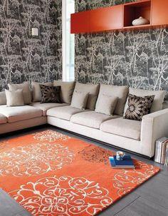 Moderner Teppich Naturfaser Carpet 100% Wolle Design MATRIX RUG TANGIER E103094