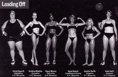Each one of these women is an Olympic athlete. Let's challenge the notion that thinness is the only indicator of fitness.