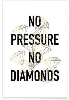 No Pressure als Premium Poster von typealive   JUNIQE