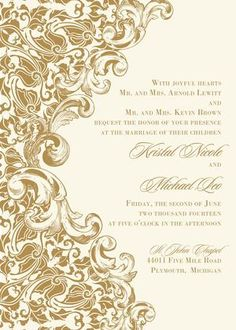 Eternal Luxe design from The Plume Collection ready-to-order wedding/event invitations.