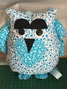 Jacqui Wale's Betsy Owl Cushion, using my paper pattern