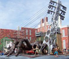 Gigantics Tarantula Attacks Power Plant!