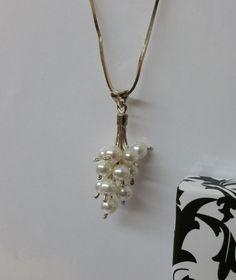 Vintage Anhänger - Halskettenanhänger mit Süsswasser-Perlen SK633 - ein Designerstück von Atelier-Regina bei DaWanda