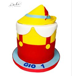 Pinocchio First Birthday Cake. Click the link below to find out more information on ordering your celebration cake. Disney Themed Cakes, Disney Cakes, Pinocchio Disney, Cakes Today, Cupcake Wars, First Birthday Cakes, Celebration Cakes, Disney Inspired, Custom Cakes