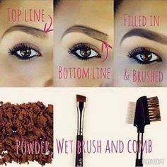 Brow technique using Younique's dry 100% natural mineral eye pigments.  Pick a  color or colors that work best for your brows!  We have many!  www.flashMYlashes.com  #brows #makeuptips #makeuptutorial #cosmetics #naturalproducts #eyes