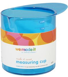 We Made It By Jennifer Garner™ Measuring Cup Use this We Made It by Jennifer Garner™ Measuring Cup to introduce your child to the joys of the kitchen. Unique, original design features easy-grip handle and pour spout. Part of the complete We Made It by Jennifer Garner™ kitchen accessories collection for kids. Ages 4+ Online Craft Store, Craft Stores, Design Guidelines, How To Introduce Yourself, How To Make, Skills To Learn, Joann Fabrics, Jennifer Garner, Kitchen Colors