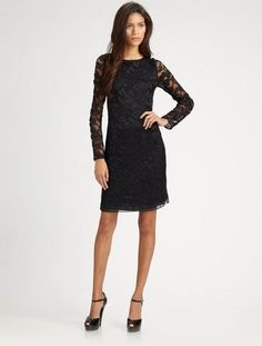 New Diane Von Furstenberg DVF New Zarita Lace Black Cocktail Party Dress L 12 | eBay