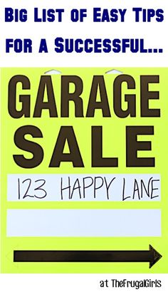 Garage Sale Tips at TheFrugalGirls.com