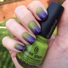 Incredible Hulk inspired nails. LOVE