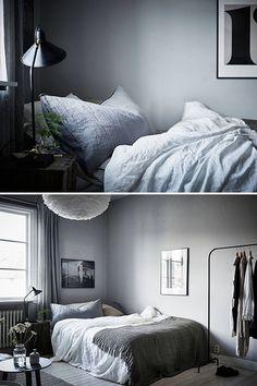 Trendenser.se - en av Sveriges största inredningsbloggar Interior Blogs, Home Interior, Modern Bedroom Decor, Home Bedroom, Bedroom Small, Bedroom Ideas, Bedrooms, Small Appartment, Ideas Hogar