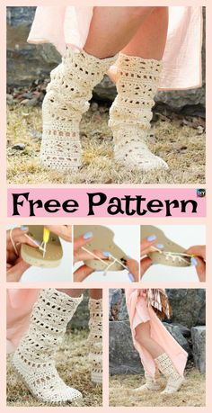 Crochet Boots with Soles – Free Patterns #freecrochetpatterns #boots