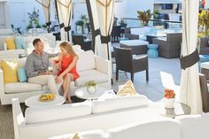 Experience uninterrupted views of the Emerald Coast skyline at the Havana Beach Rooftop Lounge, the exclusive rooftop lounge at The Pearl Hotel. Havana Beach, Rooftop Lounge, Rosemary Beach, Pearl, Table Decorations, Dining, Furniture, Home Decor, Food