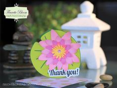 Lily Pad Shape Card - Fleurette Bloom files - Cut with Silhouette Cameo